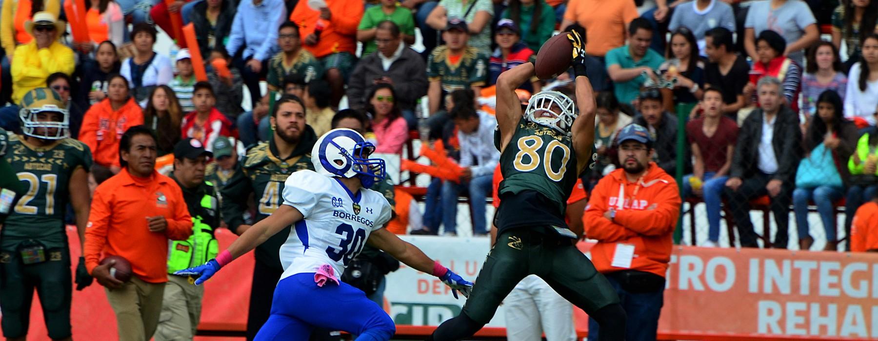 Aztecas vs Borregos Monterrey, partido de la semana 8 de la liga Premier de la CONADEIP.