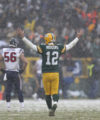 Green Bay Packers quarterback Aaron Rodgers reacts after throwing a touchdown pass to Jordy Nelson during the second half of an NFL football game against the Houston Texans Sunday, Dec. 4, 2016, in Green Bay, Wis. (AP Photo/Matt Ludtke)