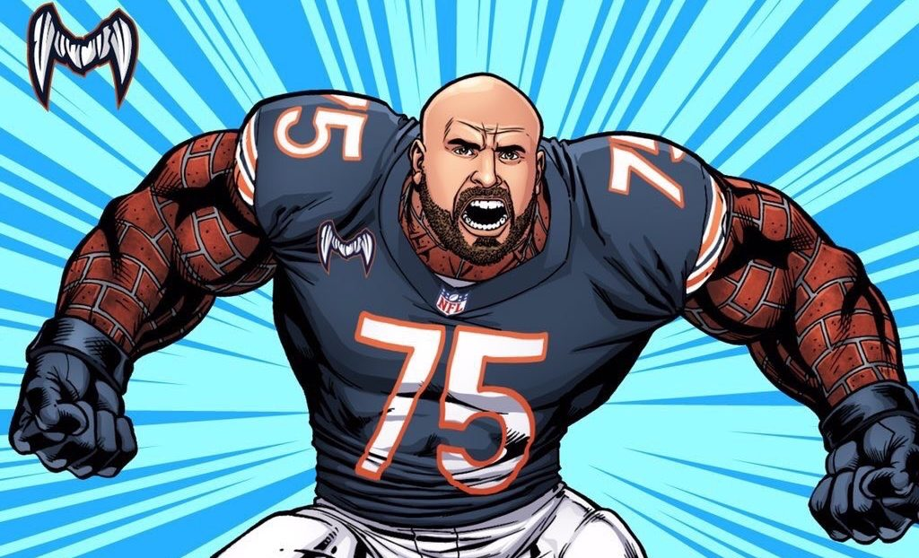 Kyle Long - Crédito ATHLITACOMICS / Chicago bears.com