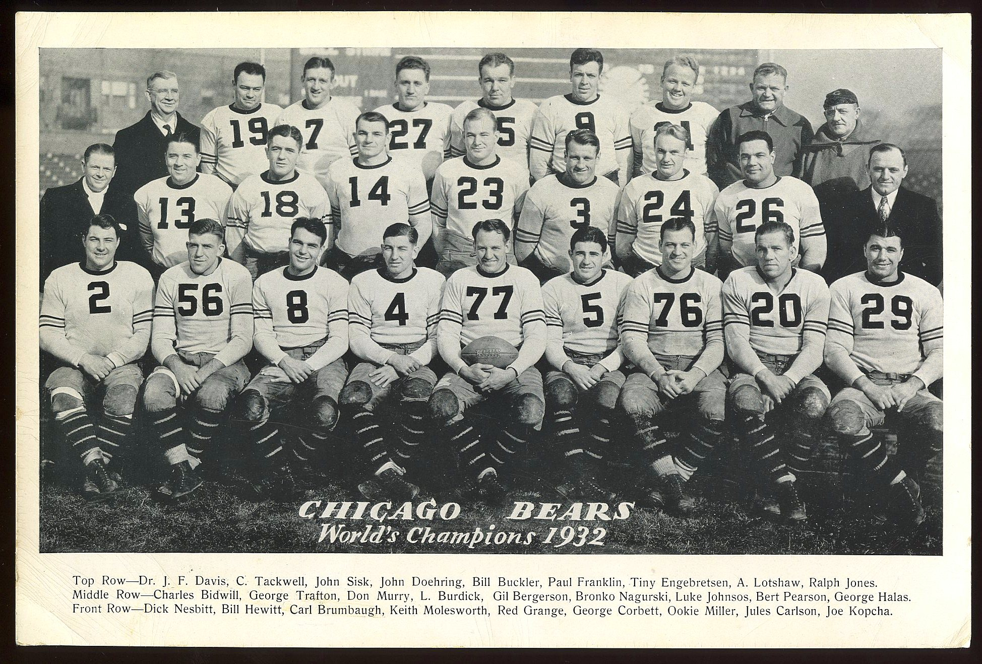 Chicago Bears 1932