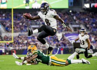 Lamar Jackson   Cortesía: Shawn Hubbard, Baltimore Ravens