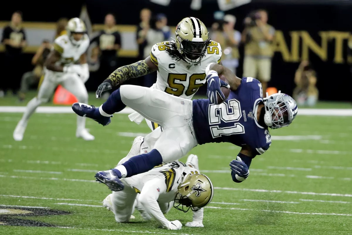 Ezekiel Elliott, Cowboys vs Saints, 2019