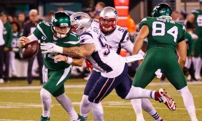 La defensiva de los Patriots vs Jets