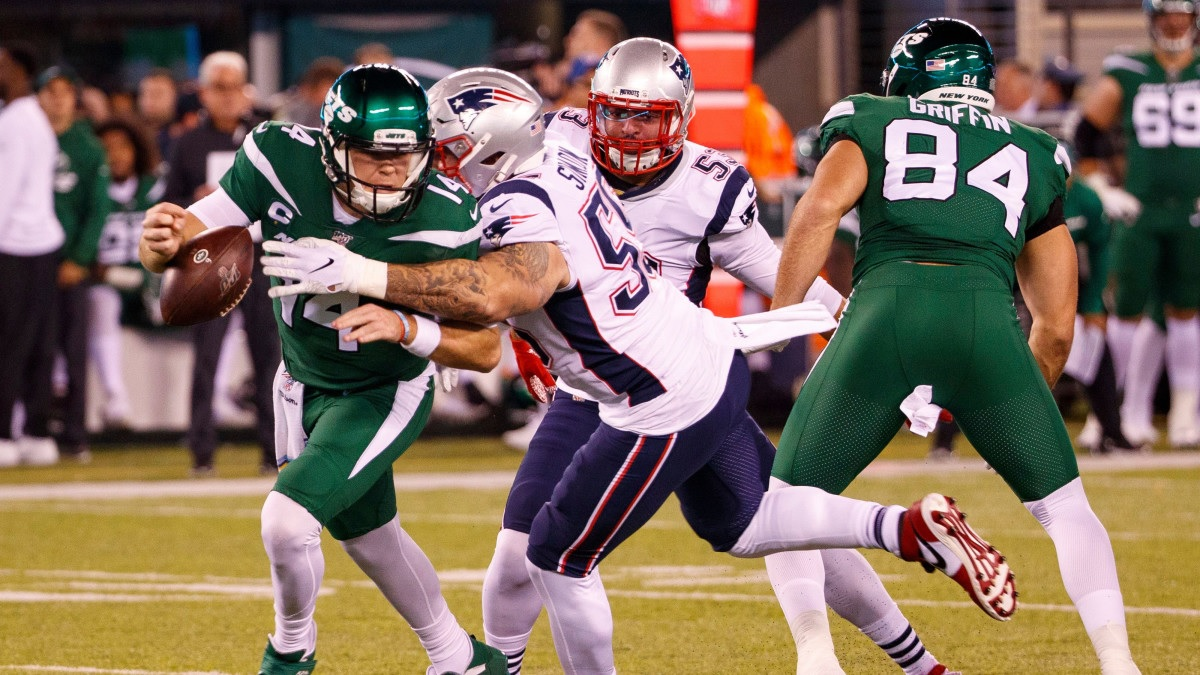 La defensiva de los Patriots vs Jets