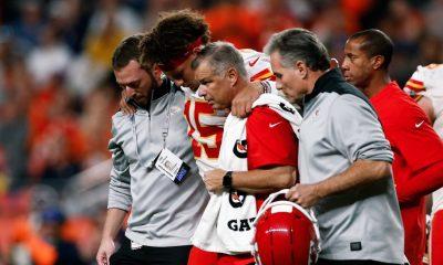 Patrick Mahomes, lesionado de la rodilla