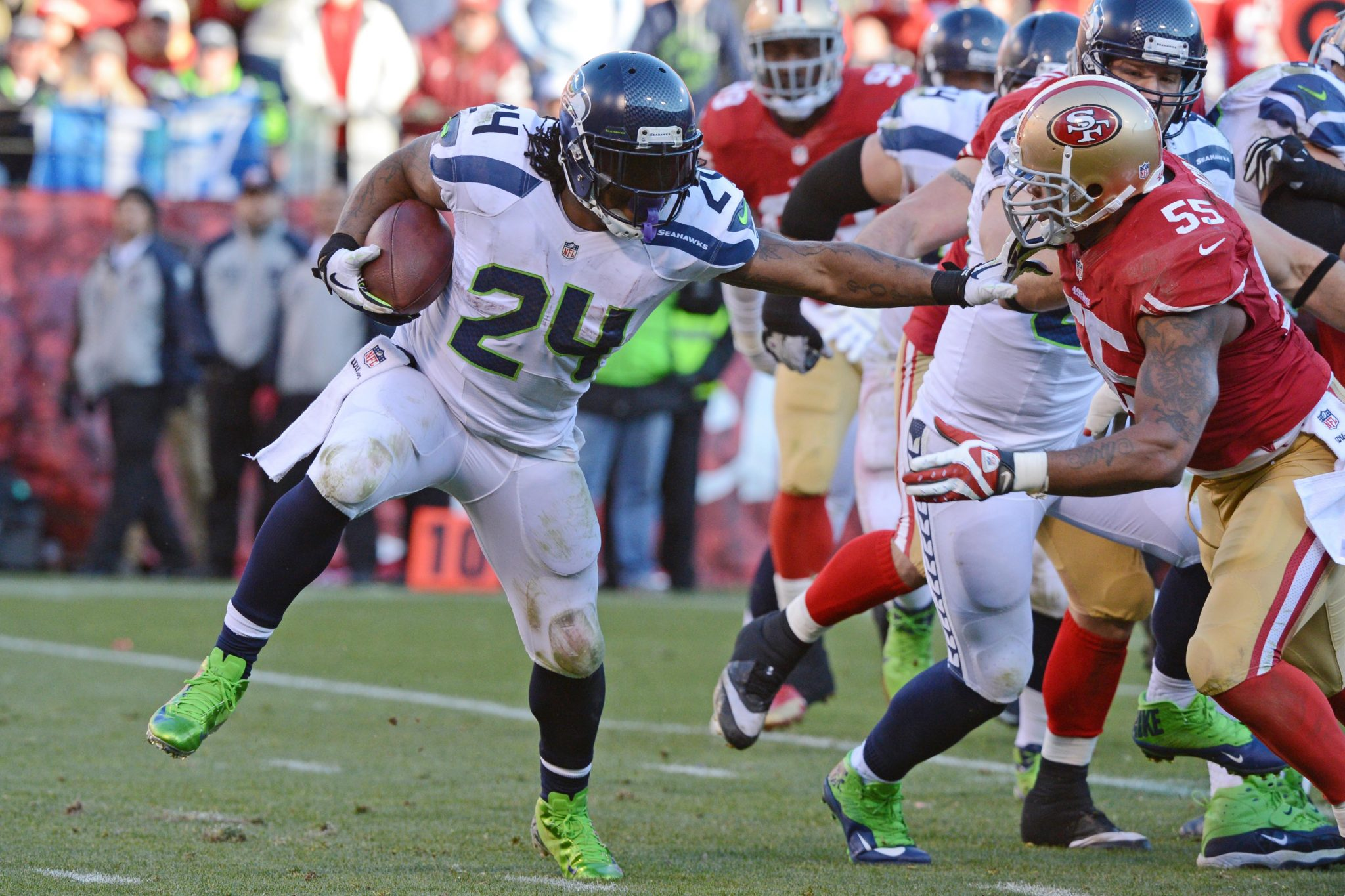 Marshawn Lynch vs 49ers