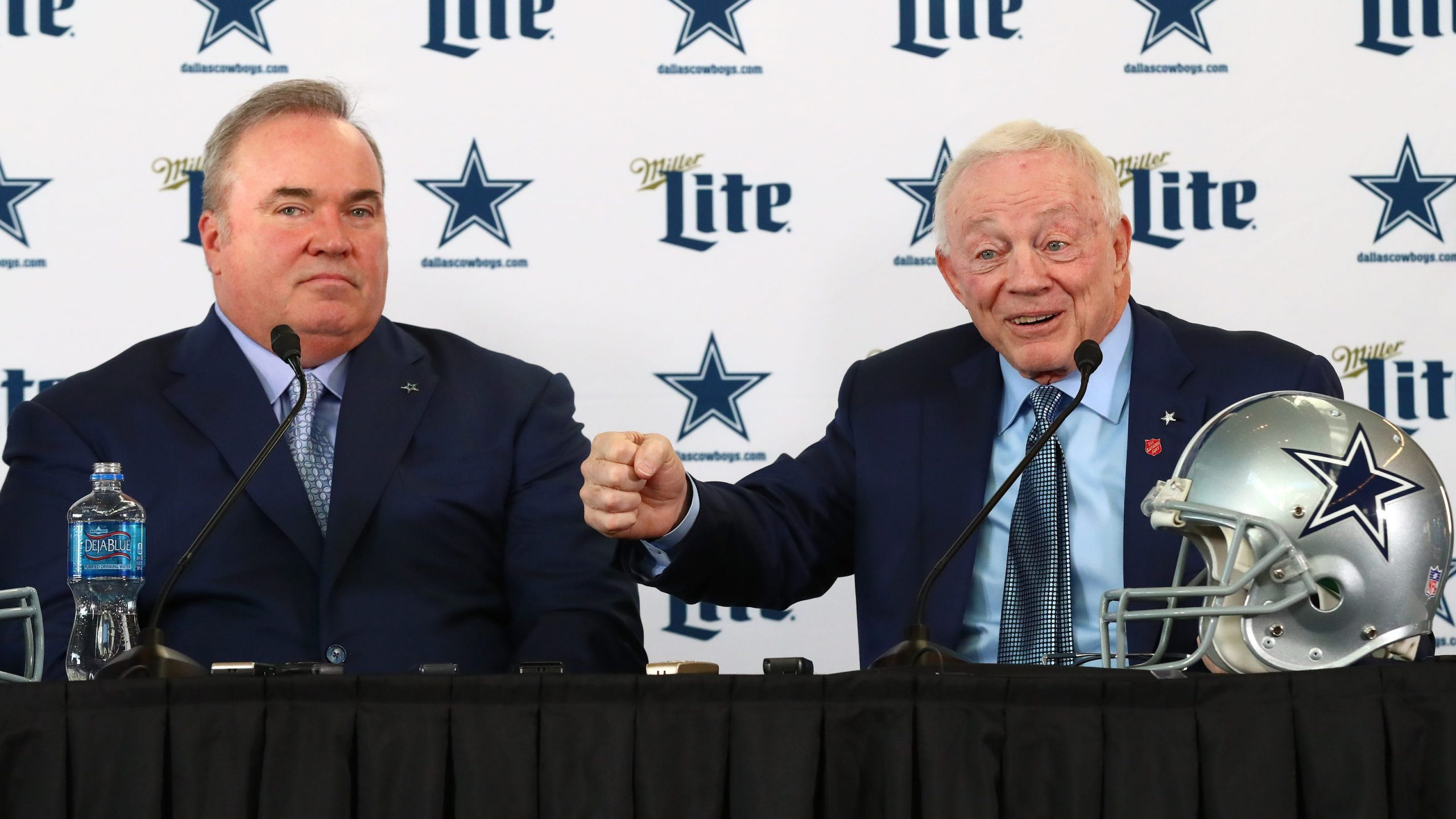 Mike McCarthy y Jerry Jones