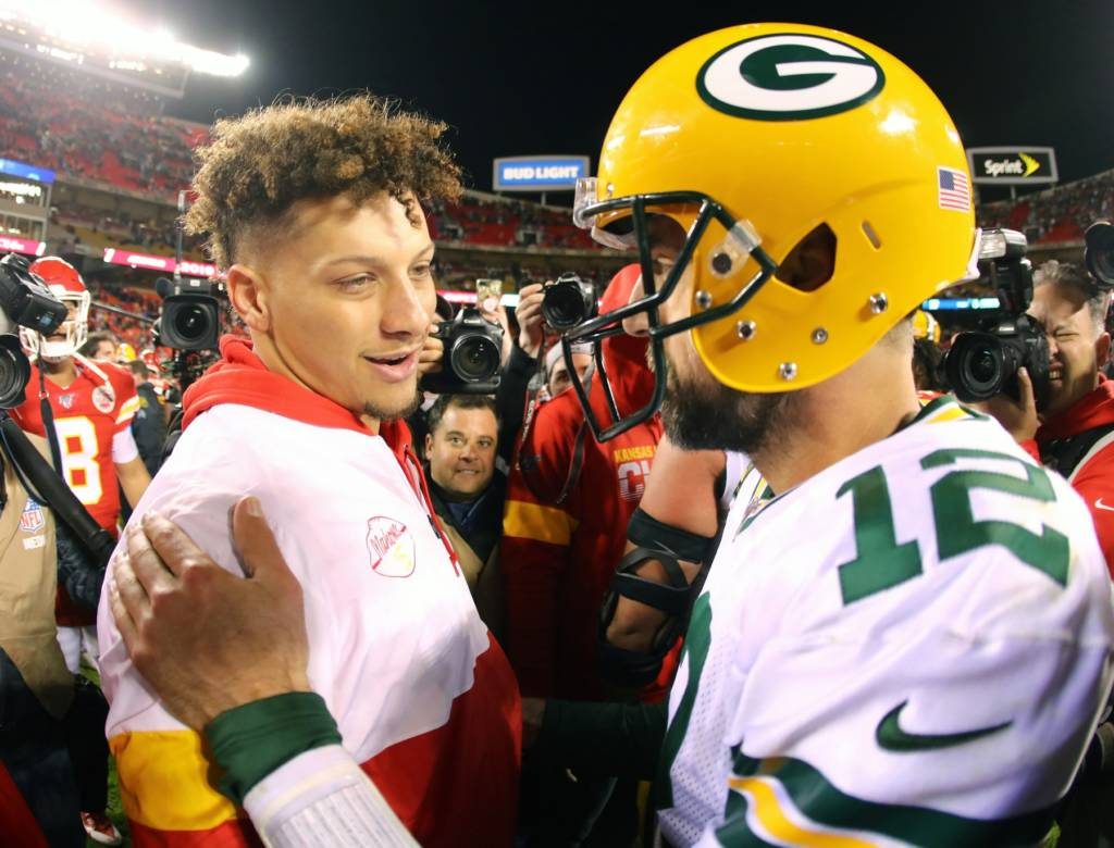 Mahomes y Rodgers