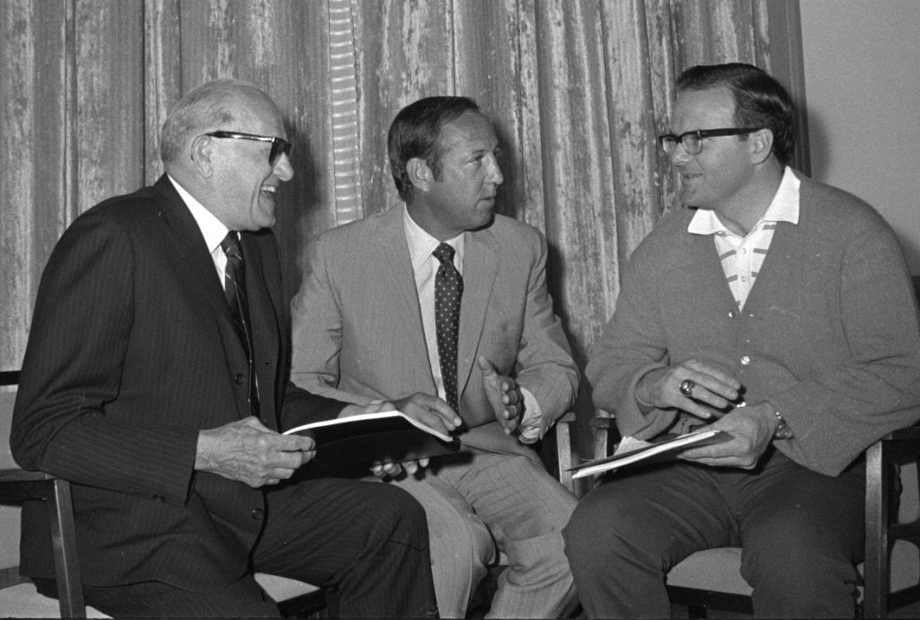 George Halas y Lamar Hunt dos pioneros del football
